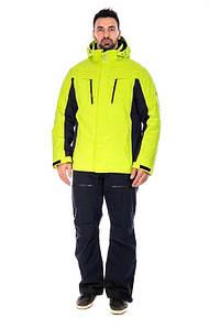 Мужской горнолыжный костюм WHS батал кислотный