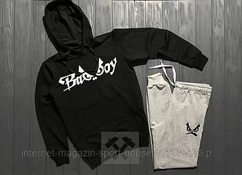 Спортивний костюм Bad Boy чорного і сірого кольору (люкс копія)