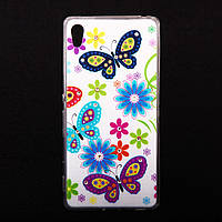 Чехол силиконовый Ультратонкий со стразами Butterfly Song для Sony Xperia Z3 Plus Z4, фото 1