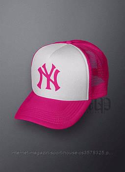 Спортивна кепка New York, Нью Йорк, тракер, річна кепка, унісекс, рожевого і білого кольору, копія