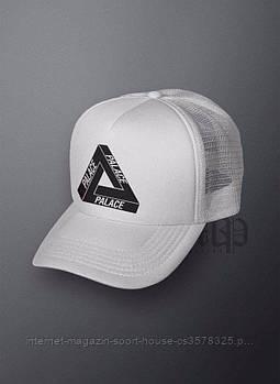 Спортивна кепка Palace, Палас, тракер, річна кепка, чоловіча, жіноча, білого кольору, копія