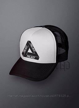 Спортивна кепка Palace, Палас, тракер, річна кепка, чоловічий, жіночий, чорного й білого кольору,копія