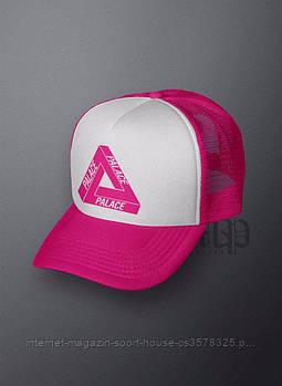 Спортивна кепка Palace, Палас, тракер, річна кепка, чоловіча, жіноча,рожевого і білого кольору,копія