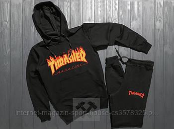 Спортивний костюм Thrasher чорного кольору (люкс копія)