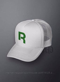 Спортивна кепка Reebok, Рібок, тракер, річна кепка, чоловіча, жіноча, білого кольору, копія