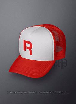 Спортивна кепка Reebok, Рібок, тракер, річна кепка, чоловіча,жіноча,червоного і білого кольору, копія