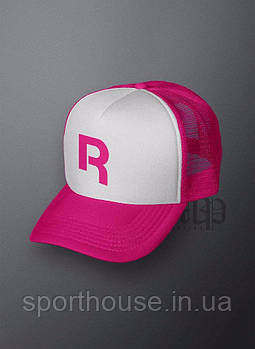 Спортивна кепка Reebok, Рібок, тракер, річна кепка, чоловіча,жіноча,рожевого і білого кольору, копія