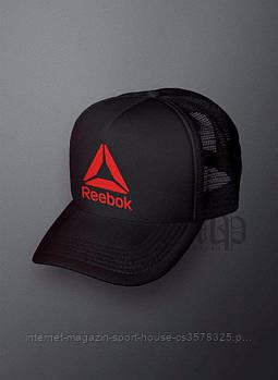 Спортивна кепка Reebok, Рібок, тракер, річна кепка, чоловічий, жіночий, чорного кольору, копія