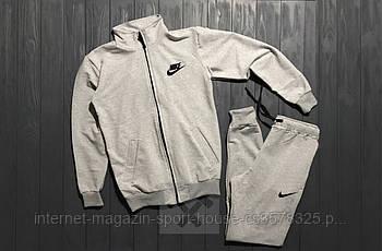 Спортивний костюм Nike сірого кольору (люкс копія)