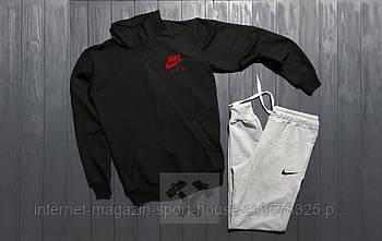 Спортивний костюм Nike чорного і сірого кольору (люкс копія)