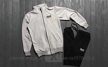 Спортивний костюм Everlast сірого і чорного кольору (люкс копія)