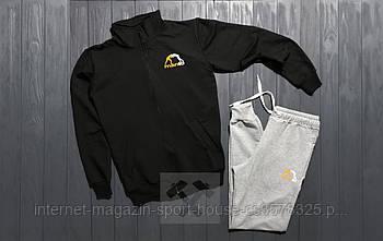 Спортивний костюм manto чорного і сірого кольору (люкс копія)
