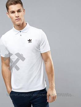 Мужская хлопковая тенниска Адидас (Adidas) с брендовым логотипом, реплика