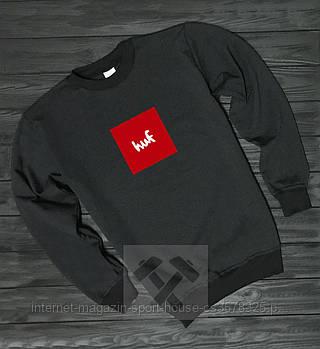 Спортивна кофта Huf, Гуф, світшот, трикотаж, чоловічий, чорного кольору, копія