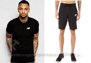 Чоловічий комплект поло/футболка і шорти Нью Беланс (New Balance), поло і шорти New Balance,чоловіча теніска,