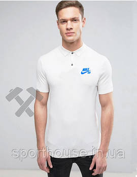 Чоловіче поло Nike білого кольору (люкс копія)