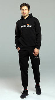 Чоловічий спортивний костюм Ellesse чорний (люкс копія)
