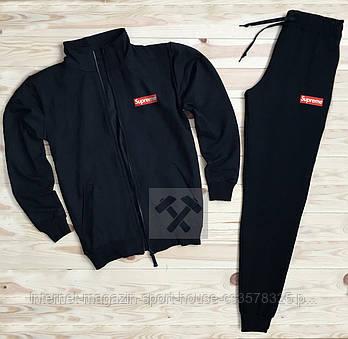 Чоловічий спортивний костюм Supreme чорного кольору (люкс копія)