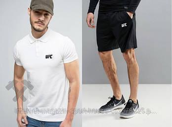 Мужской летний комплект тенниска и шорты ЮФС (UFC) молодежный, реплика
