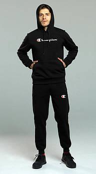 Чоловічий спортивний костюм Champion чорного кольору (люкс копія)