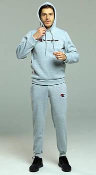 Чоловічий спортивний костюм Champion сірого кольору (люкс копія)