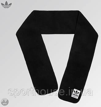 Теплий шарф Adidas чорного кольору (люкс копія)