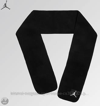 Теплий шарф Jordan чорного кольору (люкс копія)