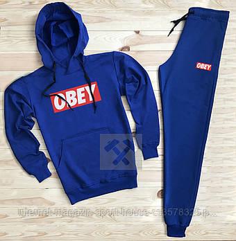 Мужской спортивный костюм Обей (Obey) толстовка и штаны (на любой сезон), реплика черный