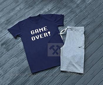 Трикотажный комплект футболка и шорты Найк (Nike) мужской, реплика