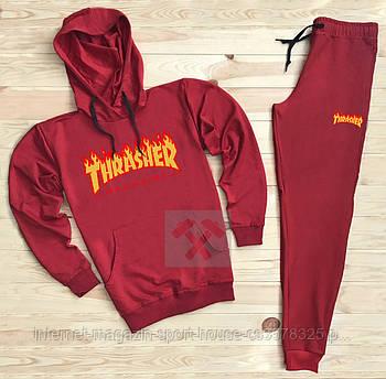 Спортивний костюм Thrasher червоного кольору (люкс копія)