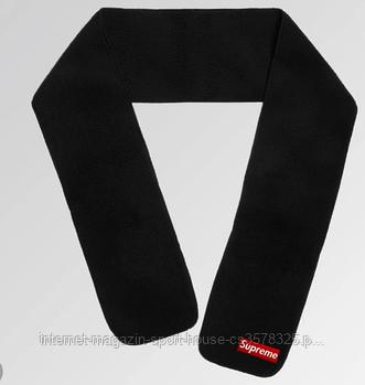 Теплый шарф Supreme черного цвета (люкс копия)