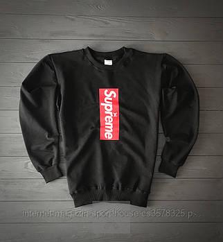 Спортивна кофта Supreme, Супреме, світшот, трикотаж, чоловічий, чорного кольору, копія