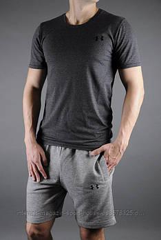 Чоловічий річний комплект футболка і шорти Андер Армор (Under Armour), футболки та шорти Турейкий трикотаж, копія