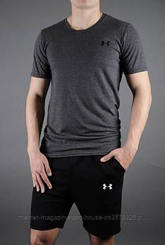 Трикотажный комплект футболка и шорты Андер Армор (Under Armour) мужской, реплика
