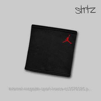 Теплий горловик Jordan чорного кольору (люкс копія)