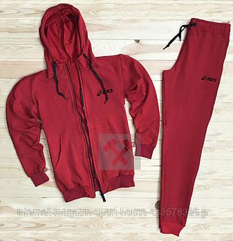 Спортивний костюм Asics червоного кольору (люкс копія)