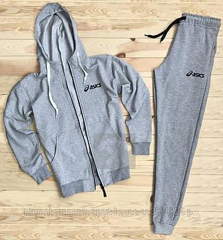 Спортивний костюм Asics сірого кольору (люкс копія)