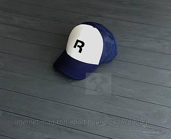Спортивна кепка Reebok, Рібок, тракер, річна кепка, чоловіча, жіноча, синього і білого кольору, копія