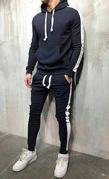 Спортивний костюм сірого і білого кольору (люкс копія)