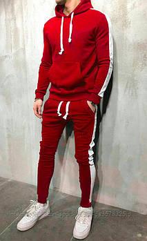 Спортивний костюм червоного і білого кольору (люкс копія)
