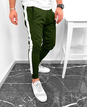 Чоловічі спортивні штани оливкового кольору (люкс копія)