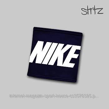 Зимовий горловик бафф Найк (Nike) трикотажний на флісі, теплий шарф Найк, репліка