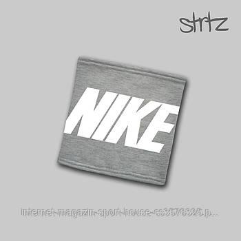 Теплий горловик Nike сірого кольору (люкс копія)