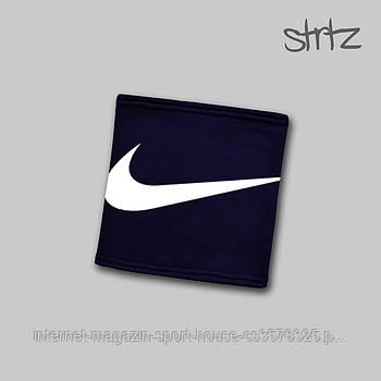 Теплий горловик Nike синього кольору (люкс копія)