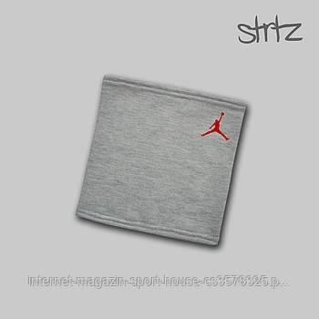 Теплий горловик Jordan сірого кольору (люкс копія)