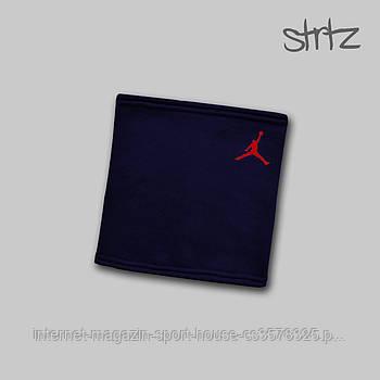 Теплий горловик Jordan синього кольору (люкс копія)