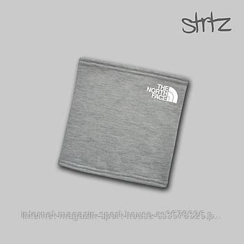 Теплий горловик The North Face сірого кольору (люкс копія)