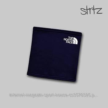 Теплий горловик The North Face синього кольору (люкс копія)