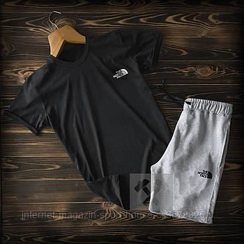 Чоловічий річний комплект футболка і шорти Зе Норс Фейс (The North Face), футболки та шорти Турейкий трикотаж,
