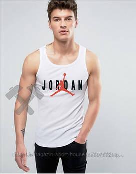 Летняя трикотадная майка Джордан (Jordan) для мужчин, реплика